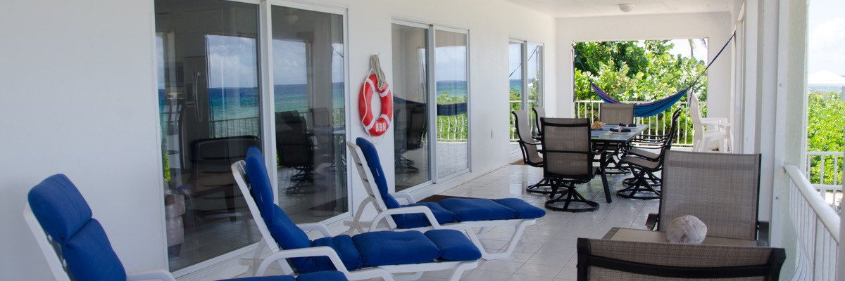2nd bedroom with chaises & hammocks w/Sea & Bluff Views too!